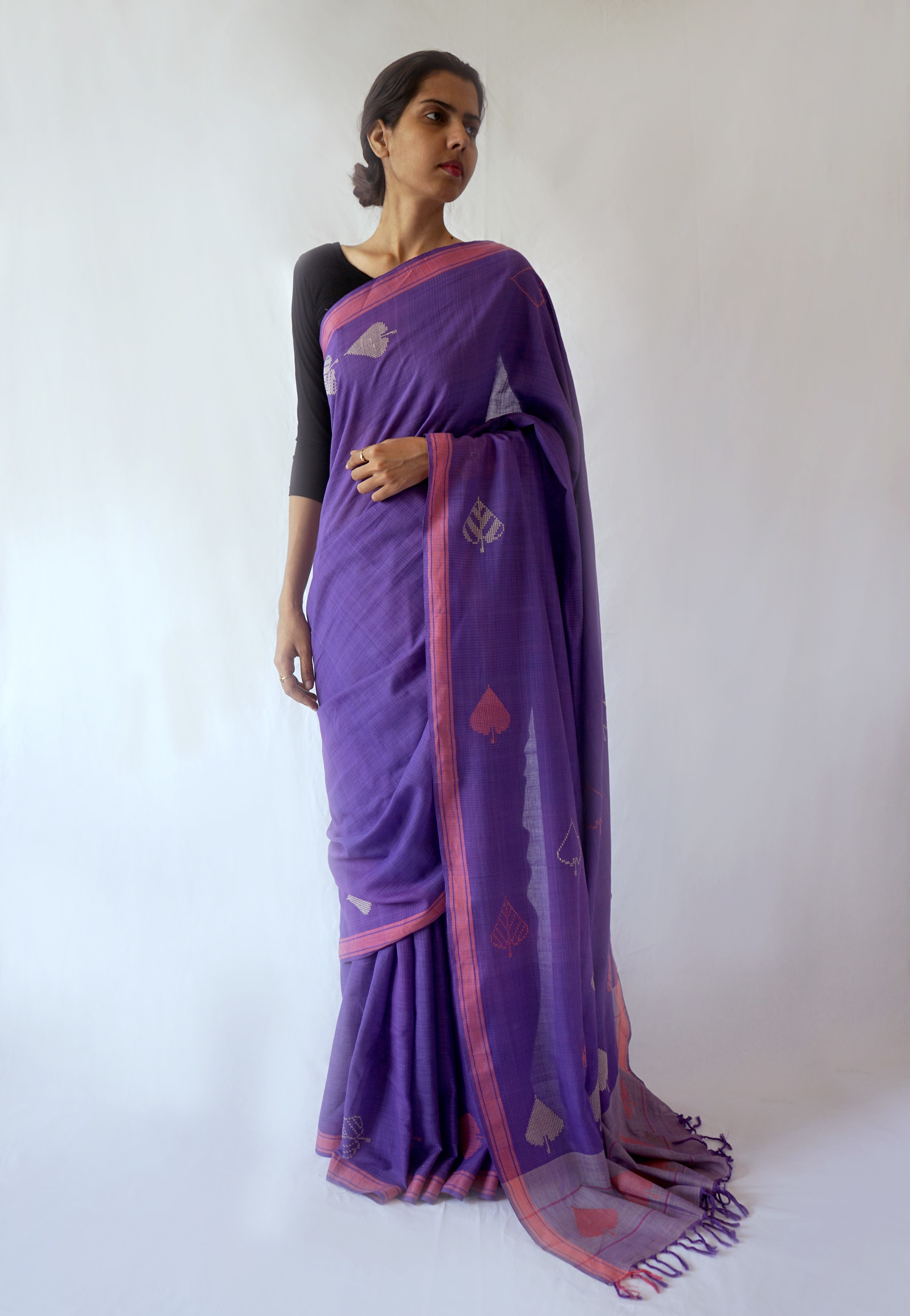 Peeple Leaf Saree