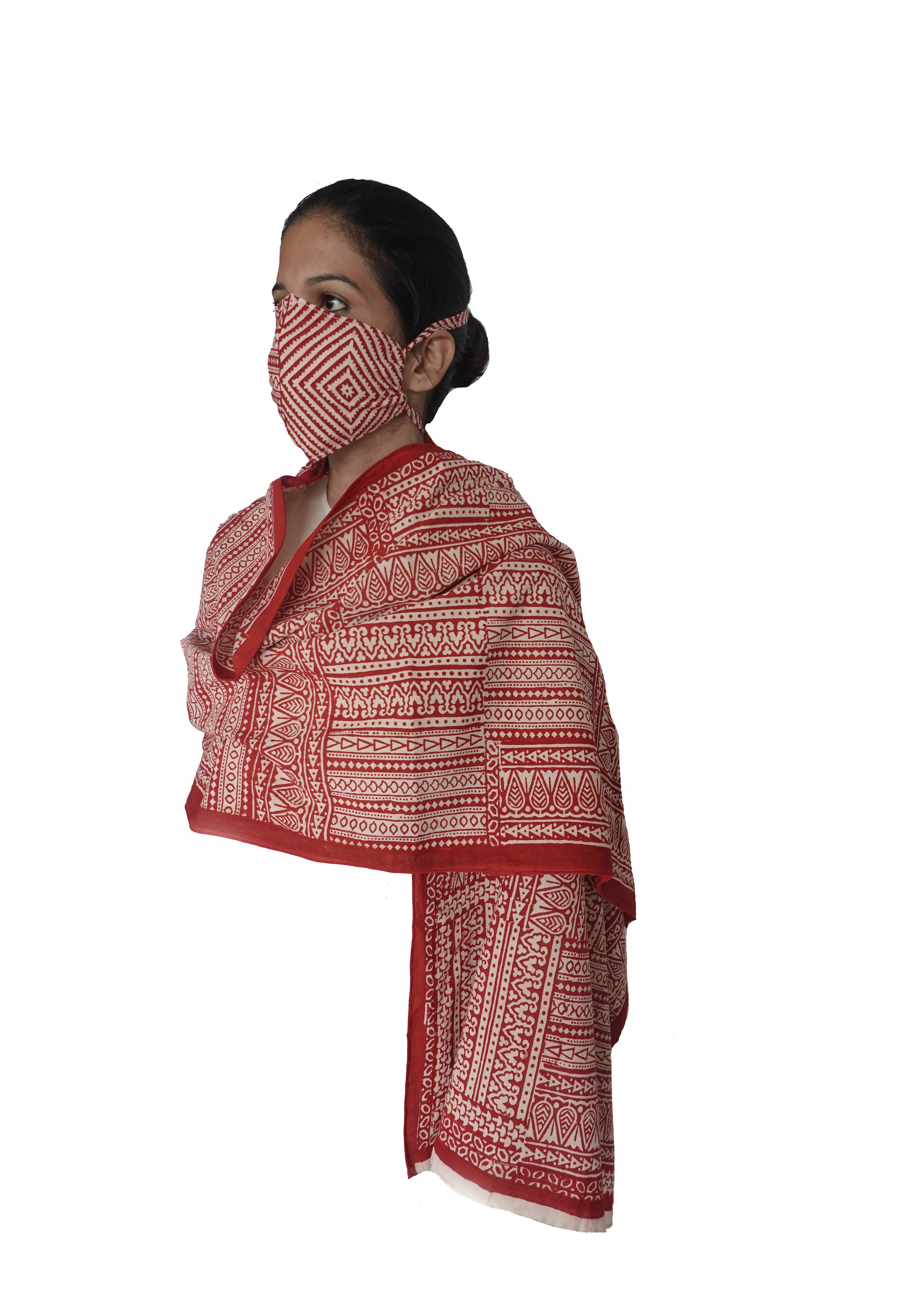 BAGH STOLE & MASK
