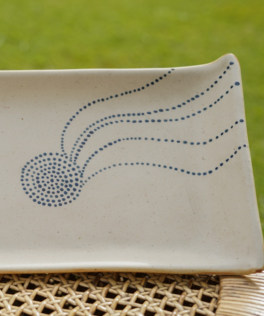 Ceramic Tray - Gond Painting